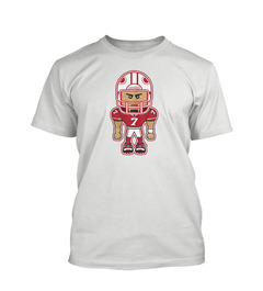 A white youth tee with Colin Kaepernick on it.
