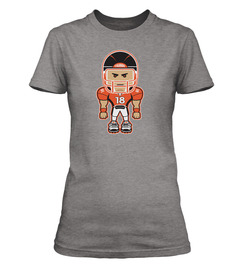 A ladies' T-shirt with Peyton Manning on it.