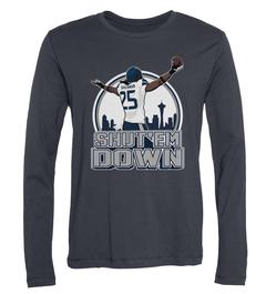 Richard Sherman Shut 'Em Down Long-Sleeve T-Shirt