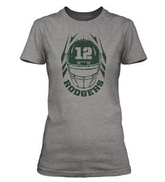 Aaron Rodgers Helmet Ladies T-Shirt