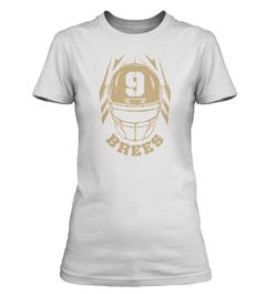 Drew Brees Helmet Ladies T-Shirt