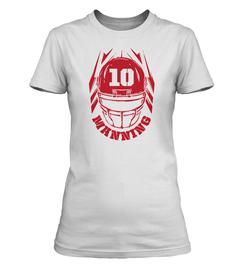 Eli Manning Helmet Ladies T-Shirt