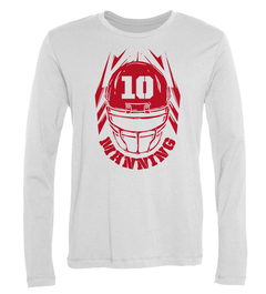 Eli Manning Helmet Long-Sleeve T-Shirt