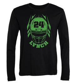 Marshawn Lynch Helmet Long-Sleeve T-Shirt