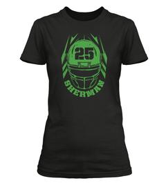 Richard Sherman Helmet Ladies T-Shirt