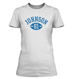 Calvin Johnson Football Player Ladies T-Shirt