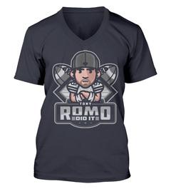 Tony Romo Romo Did It V-Neck T-Shirt
