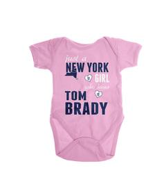 Just A NY Girl Who Loves Tom Brady Onesie