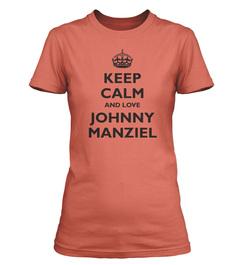 Johnny Manziel Keep Calm Ladies T-Shirt