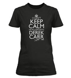 "Officially Licensed Derek Carr ""I Can't Keep Calm"" Custom Tee"